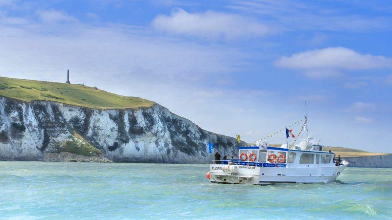 La Florelle, bateau promenade au départ de Boulogne sur mer, pointe aux oies, site des caps