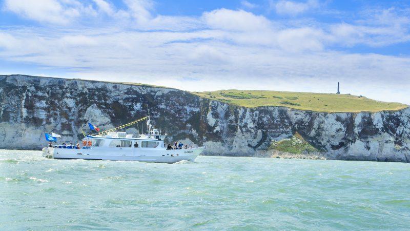 La Florelle, bateau promenade au départ de Boulogne sur mer : pointe aux oies, sites Cap Blanc Nez et Cap Gris Nez
